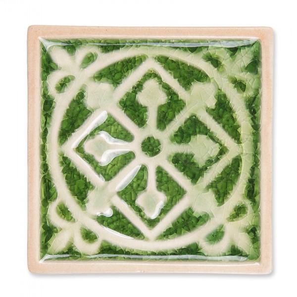 """Untersetzer """"Raute"""", grün, L 10 cm, B 10 cm, H 1 cm"""