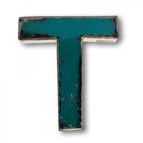 Metallbuchstabe 'T', multicolor, T 18 cm, B 20 cm, H 4 cm