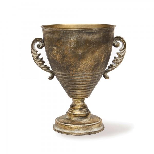 Blumenpokal 'Corie', messing-antik, T 19 cm, B 24 cm, H 27 cm