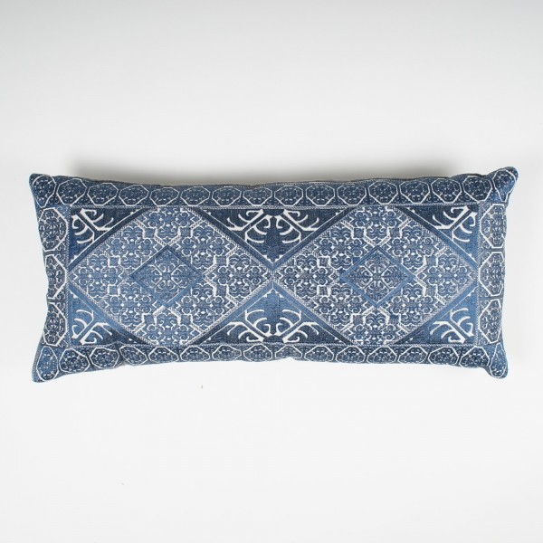 "Langkissen ""Alhambra"", blau, L 35 cm, B 80 cm"