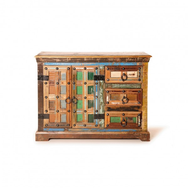 """Sideboard """"Telford"""", 2 Türen und 3 Schubladen, multicolor, L 40 cm, B 110 cm, H 80 cm"""