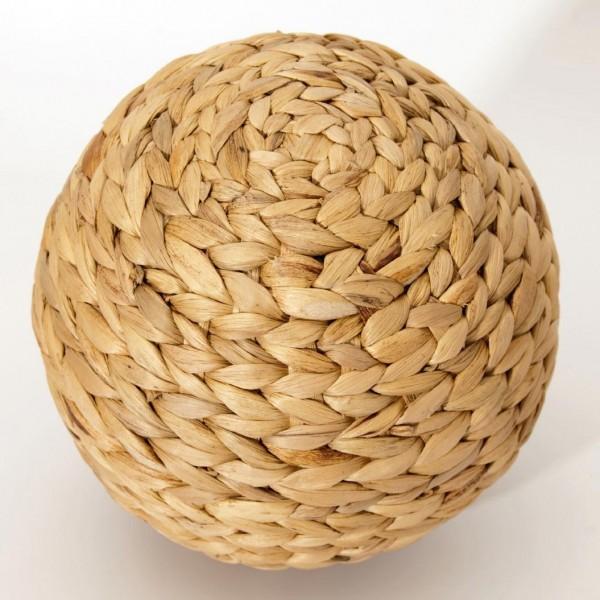 geflochtener Ball, natur, Ø18 cm