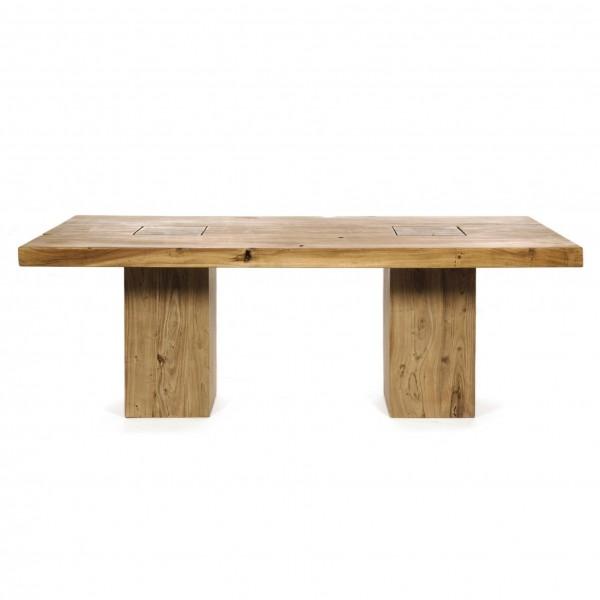 Tisch 'Carlo', braun, T ca. 95 cm, B ca. 200 cm, H 77 cm