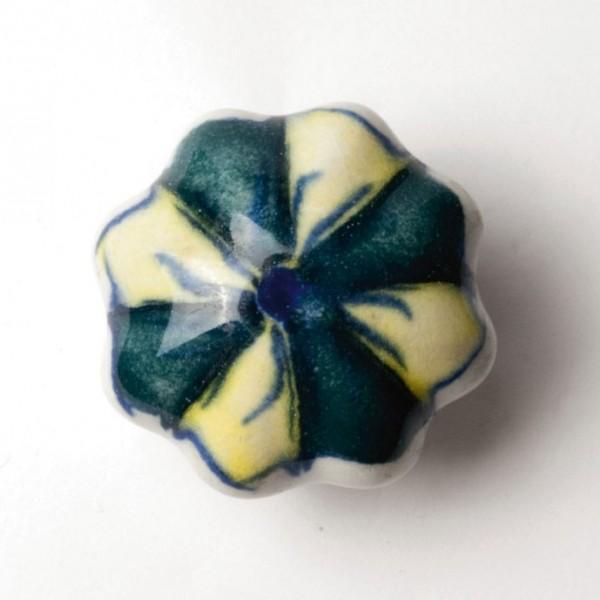 """Türknauf """"Blume"""", grün/gelb, Ø 4,5 cm"""
