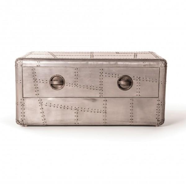 Kofferbox 'Buckson', silber, L 60 cm, B 100 cm, H 45 cm