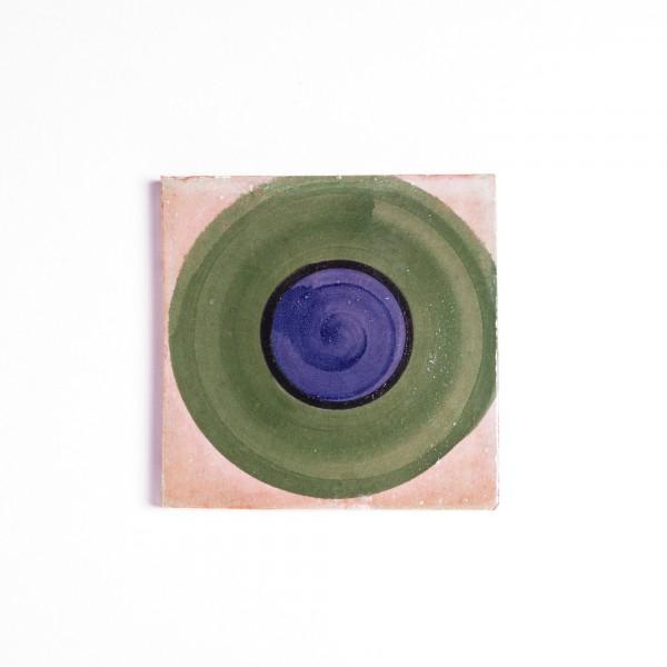Fliese rond, multicolor, T 10 cm, B 10 cm, H 1 cm