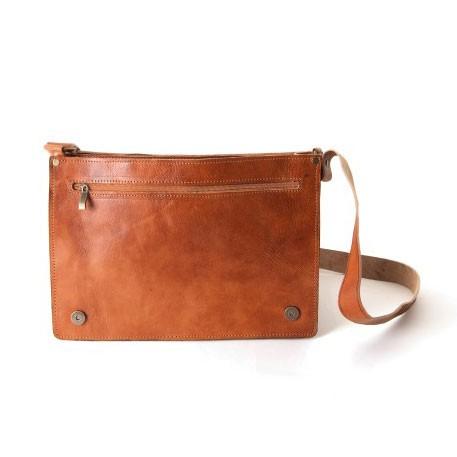 Messengertasche, braun, B 35 cm, H 27 cm
