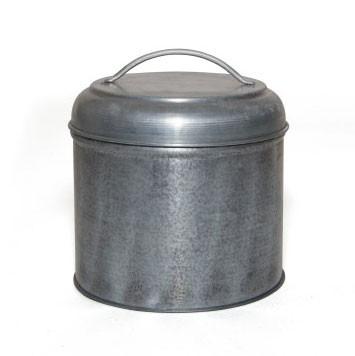 Aufbewahrungsdose aus Metall S, silber, Ø 10 cm, H 11 cm