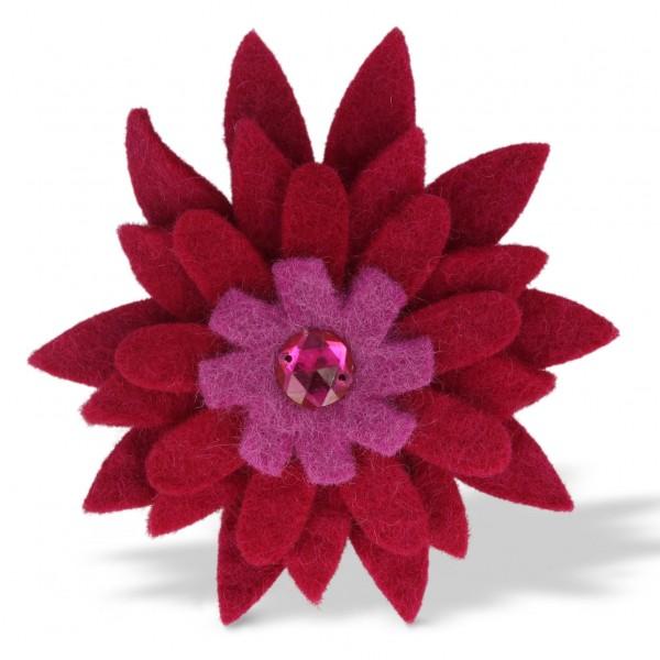 """Brosche """"Gerbera"""", rot/lila, Ø 12 cm"""