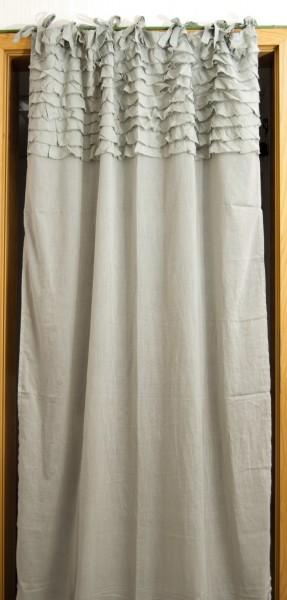 Vorhang Volant, silbergrau, H 230 cm, B 110 cm,