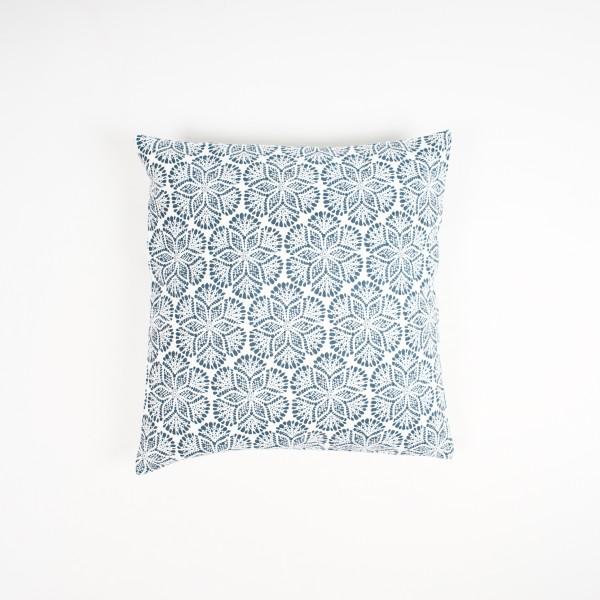 """Kissenhülle """"Frost"""", blau/weiß, L 50 cm, B 50 cm"""