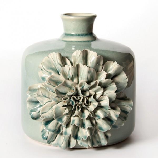 """Vase """"Dianthus canus"""", türkis, H 24 cm, Ø 18 cm"""