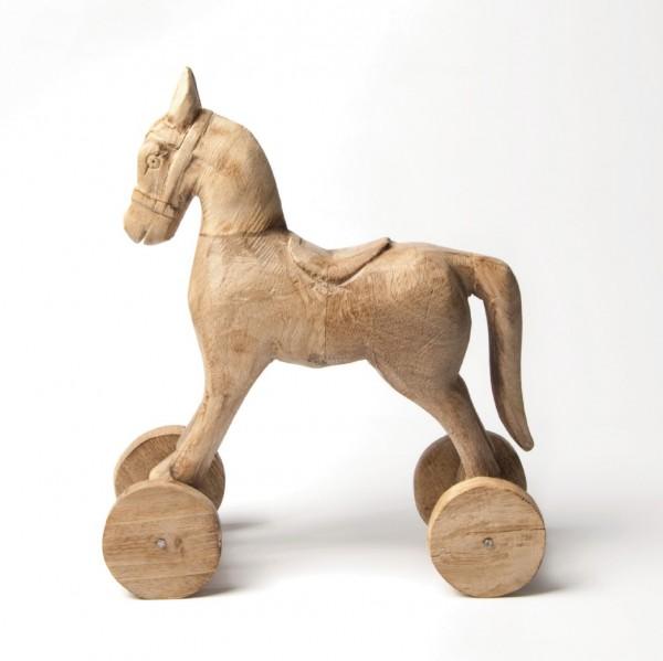 """Holzpferd """"Björt"""", natur, L 10 cm, B 26 cm, H 30 cm"""