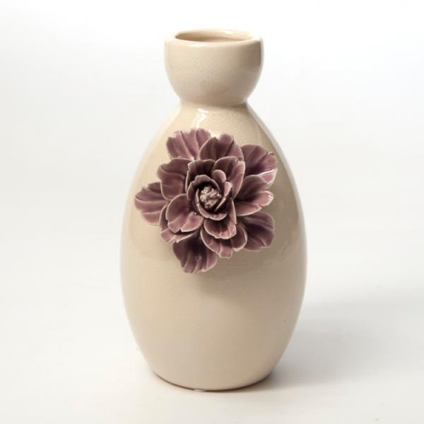 """Vase """"Dianthus violaceus"""", creme/rosa, H 25 cm, Ø 16 cm"""