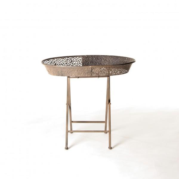 "Beistelltisch ""Qormi"", aus Metall, L 40 cm, B 59 cm, H 52 cm"