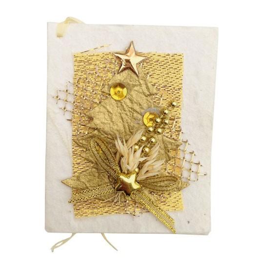 Geschenkkarte, weiß/gold, B 6 cm, H 7,5 cm