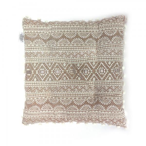 Sitzkissen 'Mehndi', braun, beige, T 60 cm, B 60 cm, H 5 cm