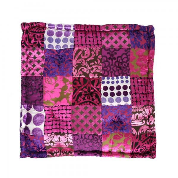 Sitzkissen Patchwork, pink, T 60 cm, B 60 cm, H 10 cm