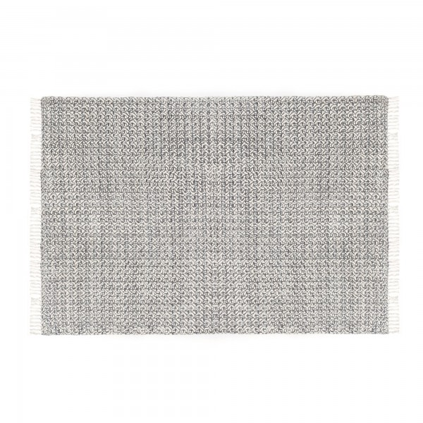 Teppich 'Menal', schwarz, weiß, T 140 cm, B 200 cm