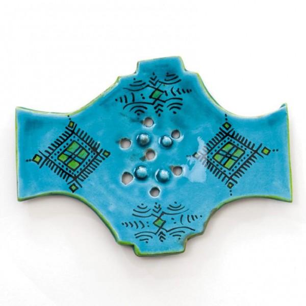 Seifenablage, türkis, L 14 cm, B 18,5 cm, H 1,5 cm