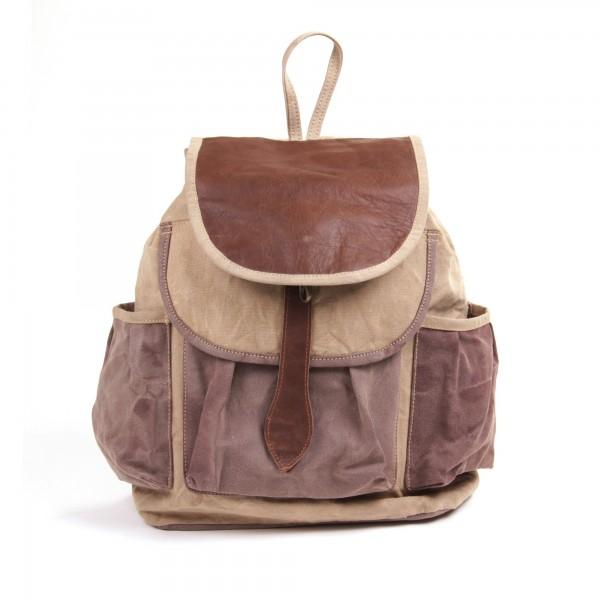"""Rucksack """"Mountain"""", beige/braun, B 34 cm, H 42 cm"""