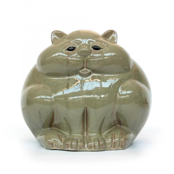 """Katze """"Fat cat"""", aus Keramik, L 34 cm, B 44 cm, H 37 cm"""