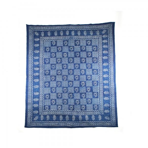 """Tagesdecke """"Champa"""", aus 100% Baumwolle, blau, L 260 cm, B 220 cm"""