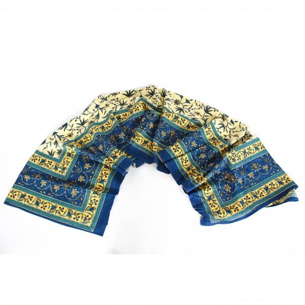 """Tagesdecke """"Foolwati"""", blau/gelb, L 240 cm, B 200 cm"""