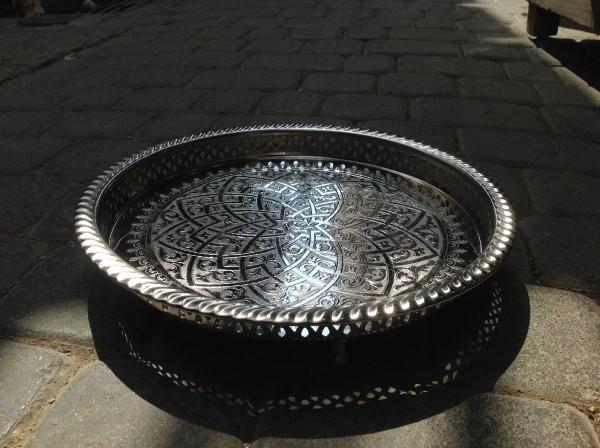 Teetablett mit Fuß 'Lotus', Ø 32 cm, H 0,5 cm