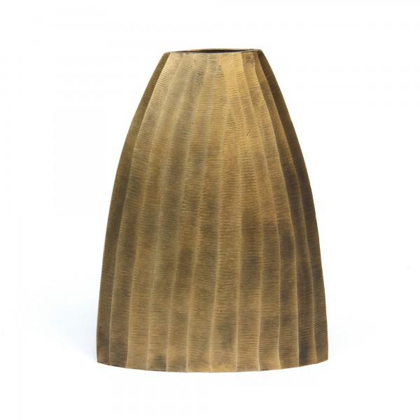 Vase 'Ditella', messing, T 9 cm, B 23 cm, H 31 cm