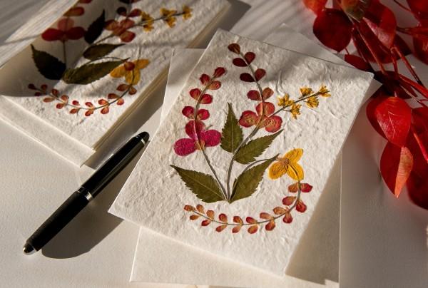 Grußkarte Blume, T 17 cm, B 12 cm