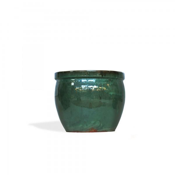 Übertopf 'Viborg', grün, Ø 21 cm