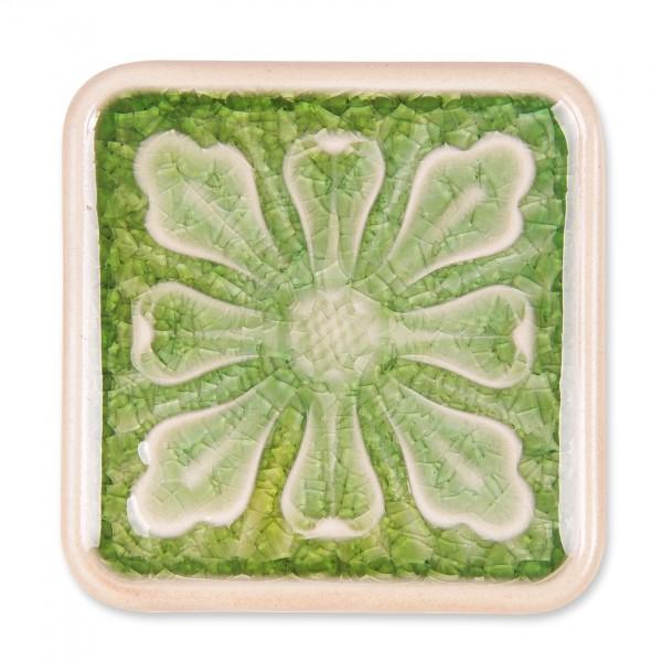 "Untersetzer ""Blatt"", hellgrün, L 10 cm, B 10 cm, H 1 cm"
