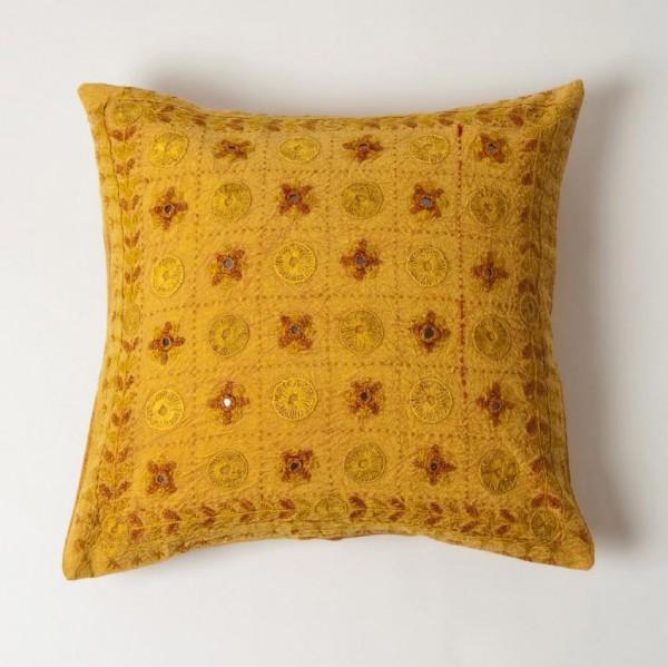 Kissenhülle, gelb, L 40 cm, B 40 cm