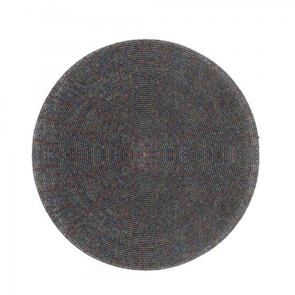 Ablage Glasperlen 'Abalone', abalone, T 30 cm, B 30 cm, H 0,3 cm