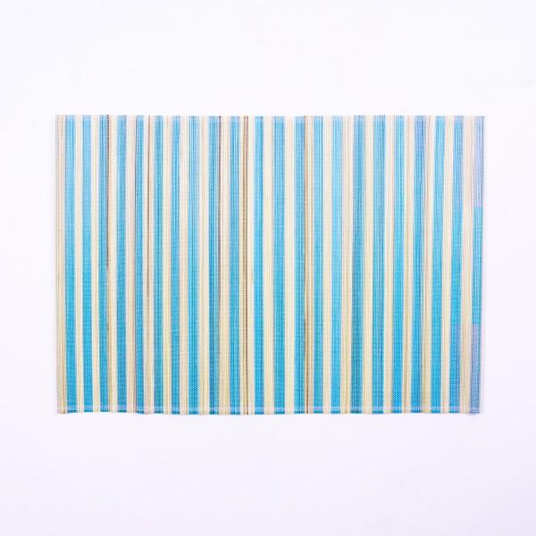 Tischset aus Bambus, blau/beige, L 33 cm, B 48 cm