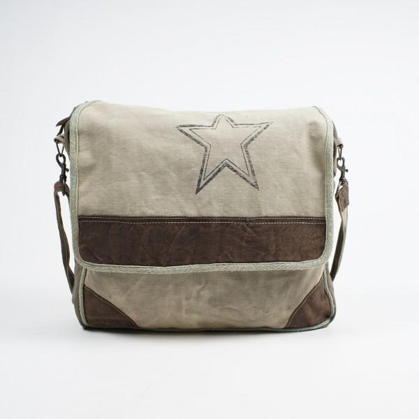 """Umhängetasche """"Star"""", beige, L 8 cm, B 38 cm, H 33 cm"""