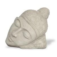Skulptur 'Face Miring', grau, T 50 cm, B 85 cm, H 75 cm
