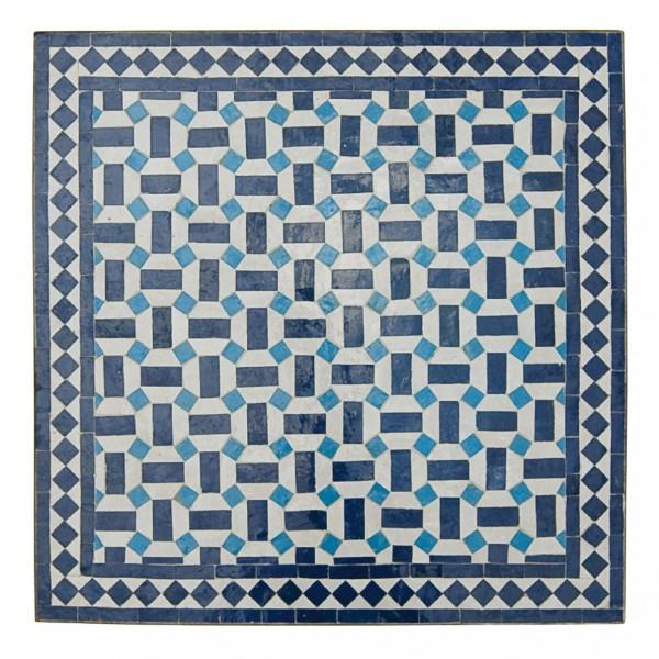 Mosaiktisch, blau/weiß, L 70 cm, B 70 cm, H 75 cm