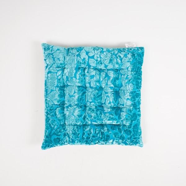 """Sitzkissen """"Aquamarine"""", türkis, L 40 cm, B 40 cm"""