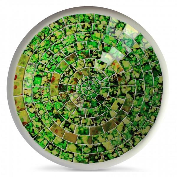 """Glasmosaikschüssel """"Brazil"""", grün/gelb, H 3,5 cm, Ø 19,5 cm"""