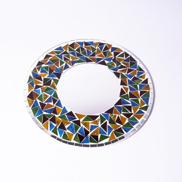 Glasmosaikspiegel, multicolor, Ø 40 cm
