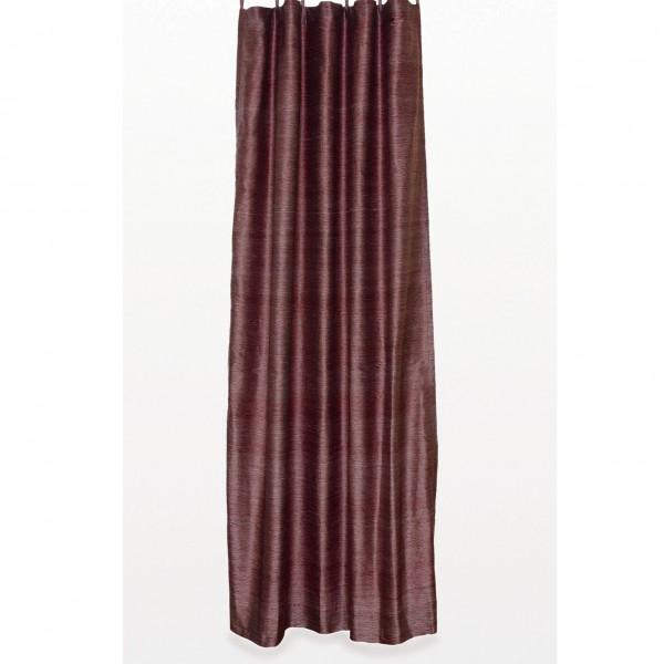 Seidenvorhang mit Schlaufe, rot/silber, L 240 cm, B 130 cm