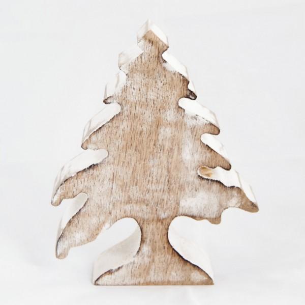 "Dekotanne ""Hornberg"" aus Holz, braun, B 13 cm, H 17 cm"