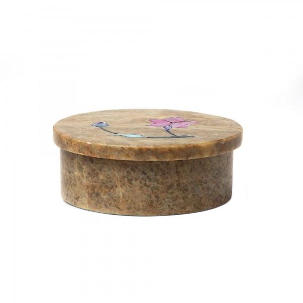 Dose 'Taneja', hellbraun, Ø 9 cm, H 3,5 cm