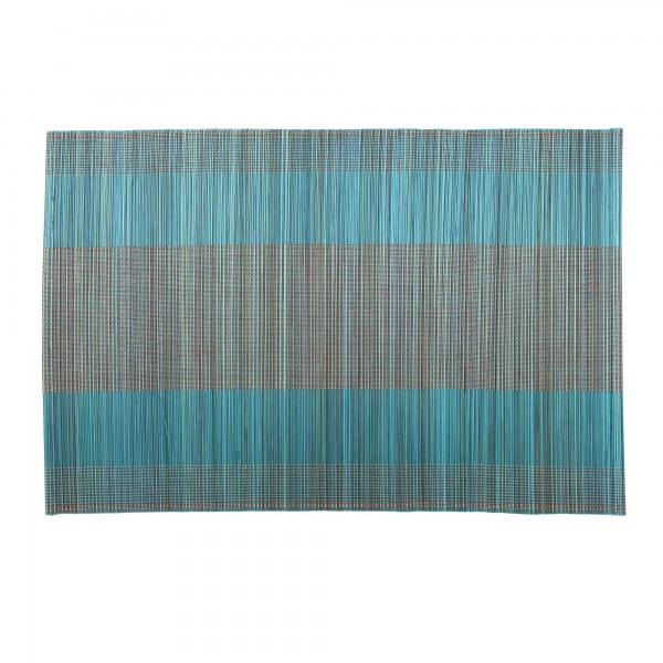 Tischset aus Bambus, türkis, L 33 cm, B 48 cm