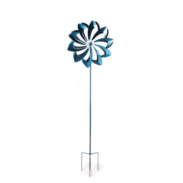 "Windrad ""Hook"", blau, Ø 61 cm, H 210 cm"