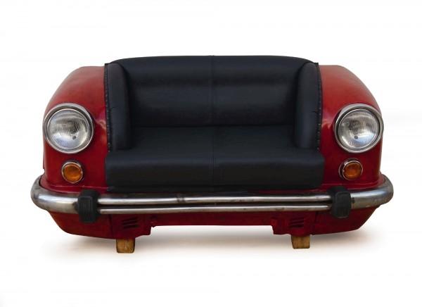 Sofa 'Ambassador Classic', Front, 2-Sitzer, rot, L 70 cm, B 158 cm, H 83 cm