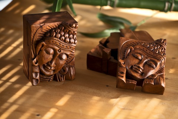 Secret Box 'Buddha', braun, T 7 cm, B 12 cm, 9 cm