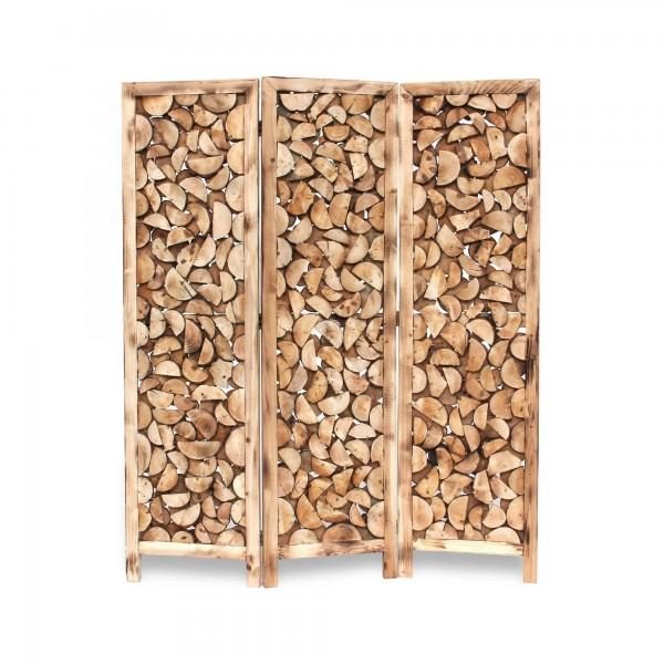 Paravent 'Baumscheiben', natur, T 3 cm, B 150 cm, H 179 cm